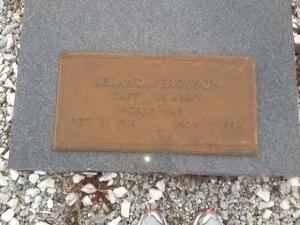 Captain Leland Ferguson tombstone