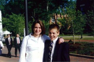 Timmy and I in 1997. Wowzers.