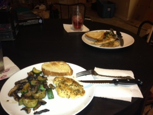Thanks to my sister's gift of e-meals, our first home cooked dinner in FL