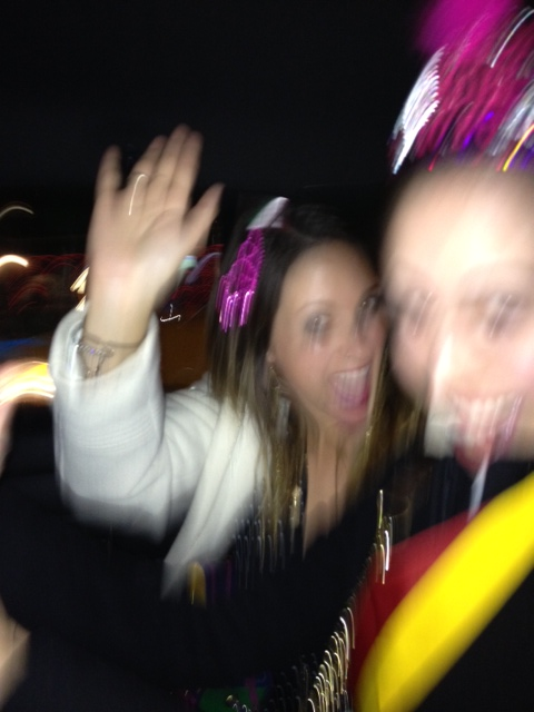 Our cab driver pumped up the music and we couldn't stay still, literally