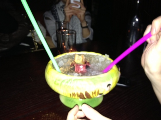 This drink was on fire, much like my esophagus after drinking it