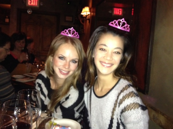 Nikki and Alina with mini crowns because they're mini in stature anyways