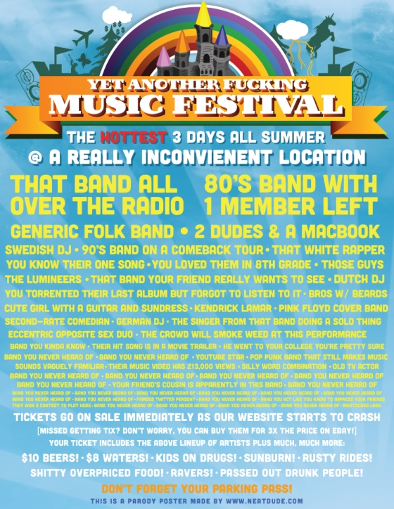Music Festivals, Oh How I Love/Hate You