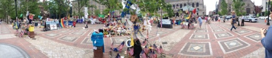reminded me so much of Union Square after 9/11. A touching tribute to the Boston Marathon runners after the bombings