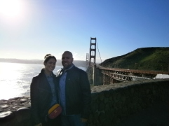 the obligatory stop at the Golden Gate. I will never get tired of taking this picture