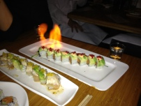 sushi fire! Oh wait, that's how it came