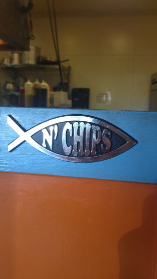 """Fish"" and chips in Sausalito. Love it"
