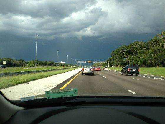 Commutes are always made better by threatening skies, right?