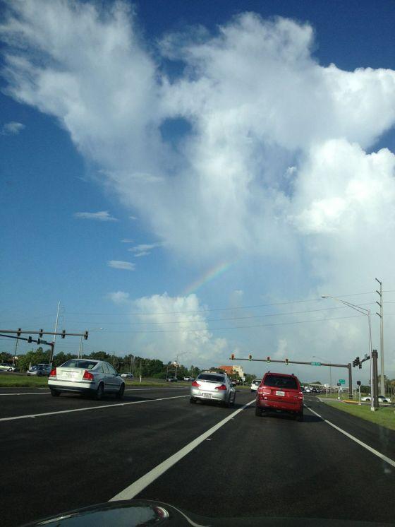 A rainbow here...