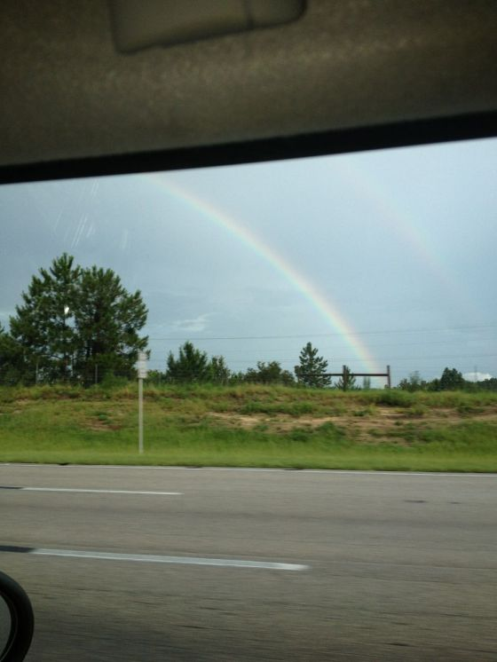 (double) rainbows everywhere!