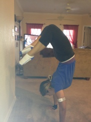 Doing my best to get into that damn scorpion pose. Back issues be damned!