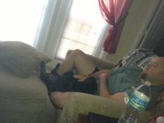 "Floyd takes ""lap dog"" very literally"