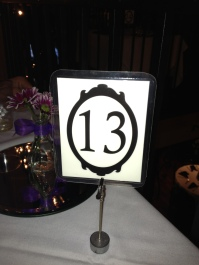 The first table we sat at for the wedding reception. No thanks.