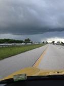 I think it's raining on the left. Do you?
