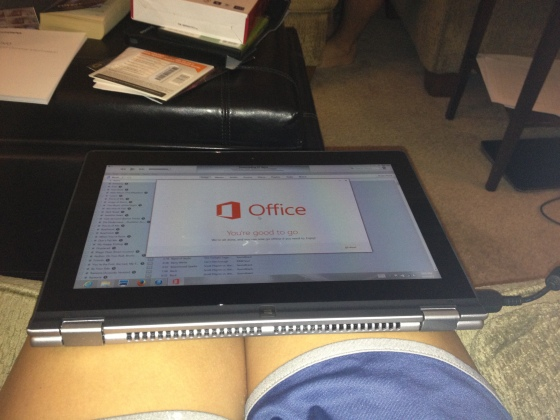 A friggin tablet. Yes, that's right, a laptop that turns into a tablet.
