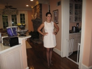 ready to go in my white dress!