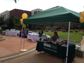 tabling at Health & Wellness Fair