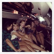 who said you can't take a limo the a party??