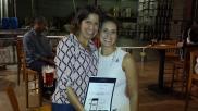 Alejandra, winner of the Uber $100 credit raffle prize!