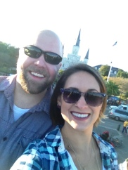 selfies at Jackson Square