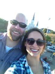 selfies at Jackson Square