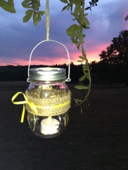 tea lights and sunsets
