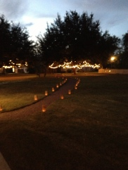 path of candles