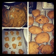 Pumpkin chocolate chip cookies were my contribution