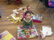 the twins, celebrating their 3rd birthday early