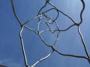 wire art installation