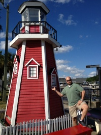 little lighthouse, normal sized man