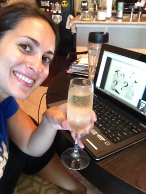 Cheers to celebrating your birthday alone on an online class