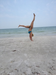 L-shaped handstands at Madeira Beach