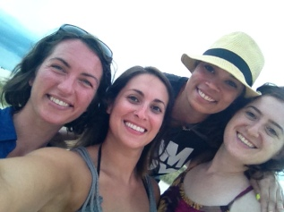 Jenny, myself, Mel, and Leah at Treasure Island