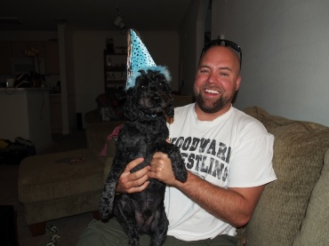 the birthday boy and daddy