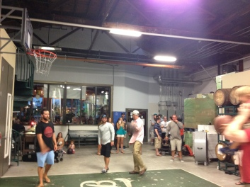 basketball game in the Brewery...totally normal for St. Pete