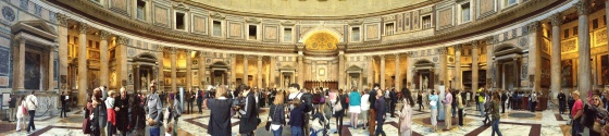 The Pantheon in panorama