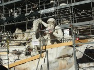 The Trevi Fountain...DAMMIT WAS UNDER REPAIRS
