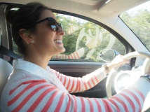 happily driving