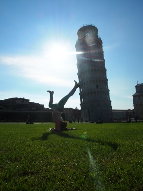 forearm stands to save the Tower!