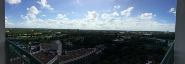 my hotel room view in Orlando