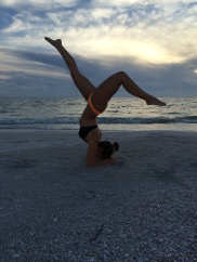 of course there's time for beach yoga
