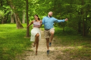just skipping through the park, like couples in love do
