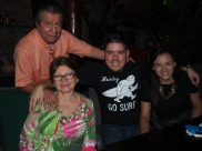Tio Jaime, Tia Marta, cousin Luis Edgardo and his gf