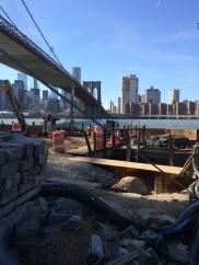 below the Brooklyn Bridge