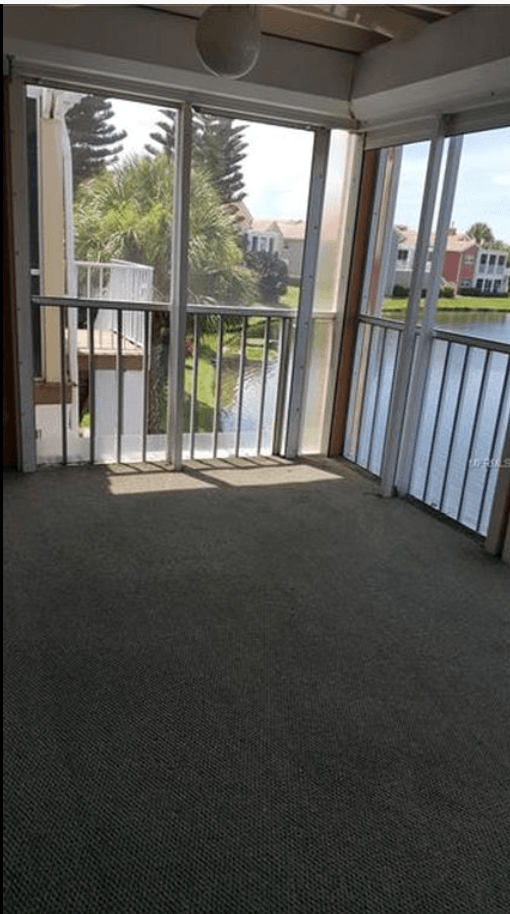 carpeted top patio